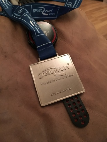 Great North Run medal